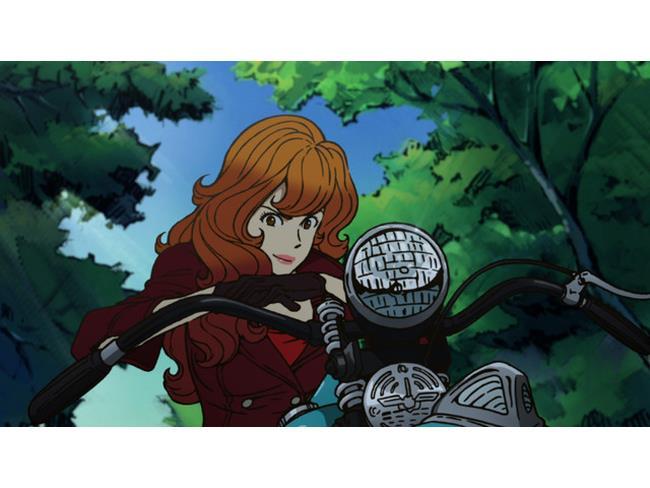 Fujiko in motocicletta