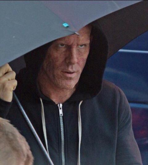Wade Wilson senza maschera sul set di Deadpool