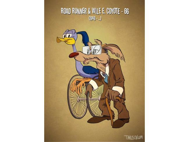 Wile E. Coyote e Beep Beep da anziani