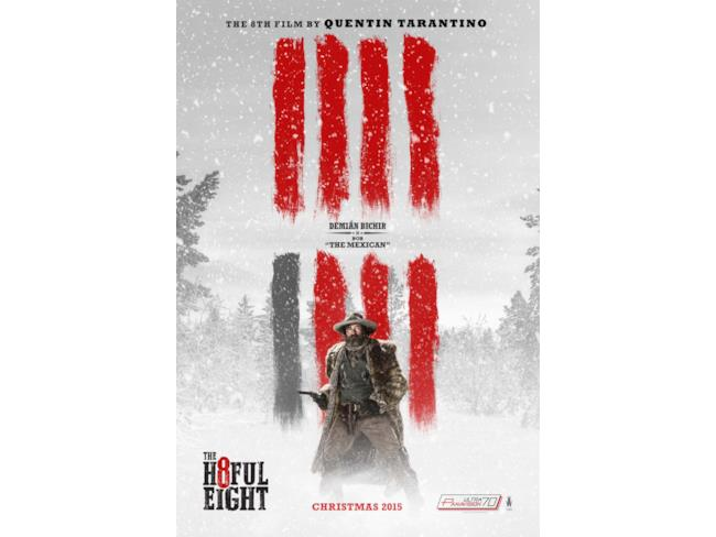 Il character poster di The Hateful Eight con Demián Bichir