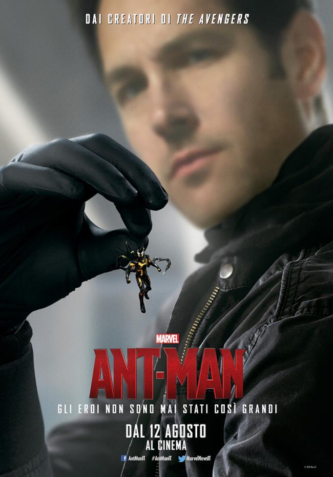 Calabrone e Ant-Man in uno dei poster ufficiali del film
