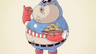 Capitan America in versione obesa