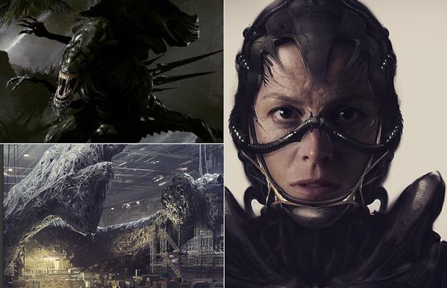 La concept art per Alien realizzata da Neill Blomkamp