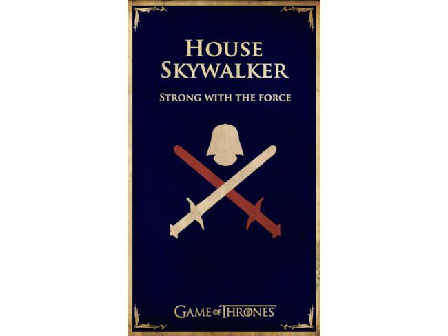 Il Banner di Casa Skywalker in stile Game of Thrones