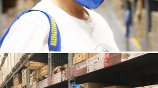 IKEA FRAKTA trasformata in una mascherina anti inquinamento