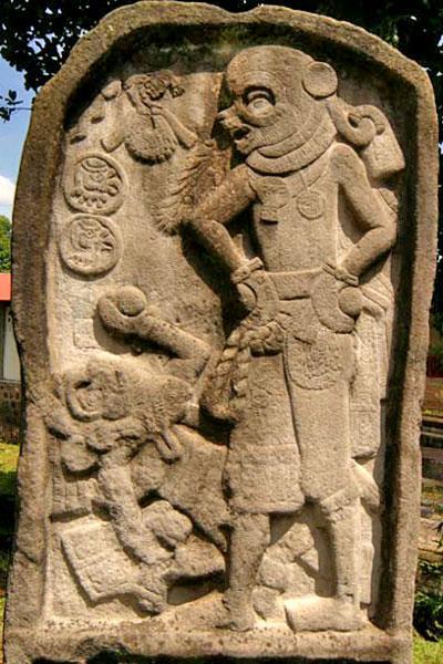 Una stele situata a El Baúl