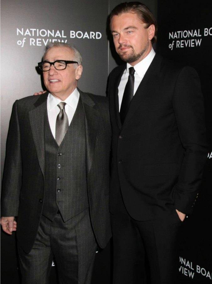 Martin Scorsese, a sinistra, e Leonardo DiCaprio, a destra.