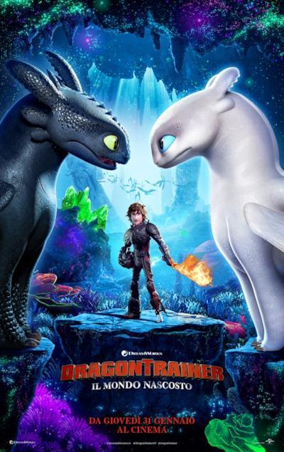 Il poster ufficiale in italiano di Dragon Trainer 3