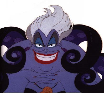 Ursula è la cattiva del film di Ariel La Sirenetta