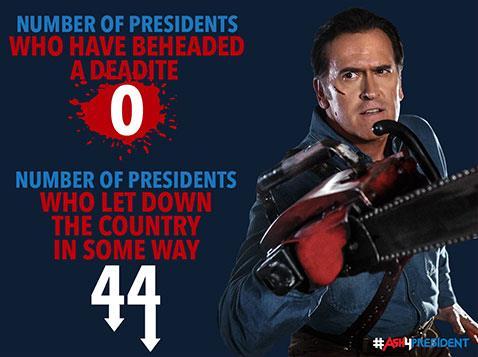 Ash vuole diventare Presidente degli Stati Uniti