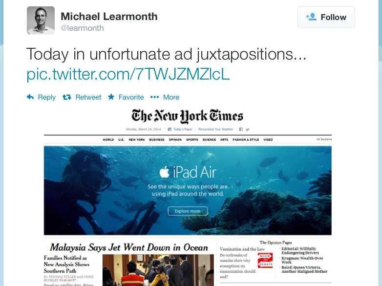 Epic fail della pubblicità di un iPad Air