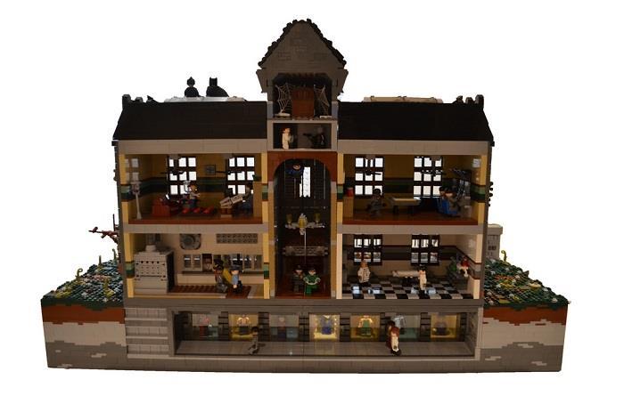 L'interno della versione LEGO dell'Arkham Asylum