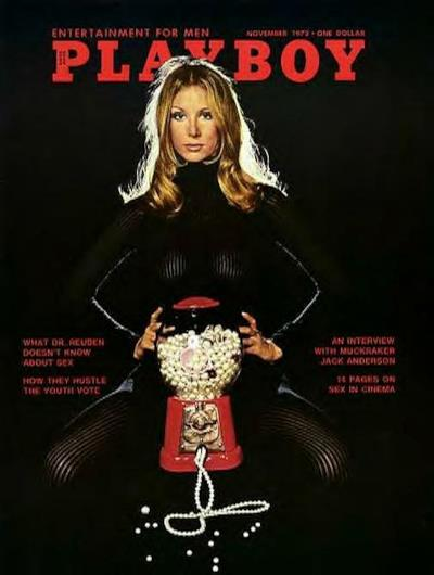 La cover di Playboy di novembre del 1972