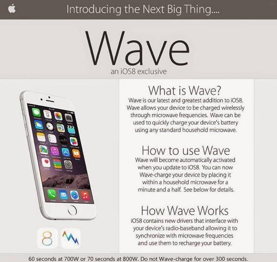 Volantino su internet che invita a mettere lo smartphone nel microonde
