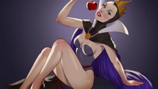 La Regina Cattiva di Biancaneve in versione pin-up