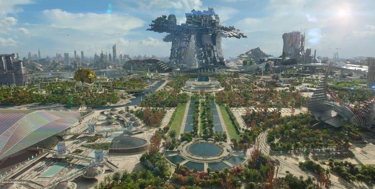 Xandar, il pianeta distrutto da Thanos per recuperare la Gemma del Potere.