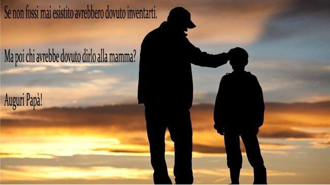 Padre e figlio al tramonto -  Immagini da scaricare per la Festa del Papà