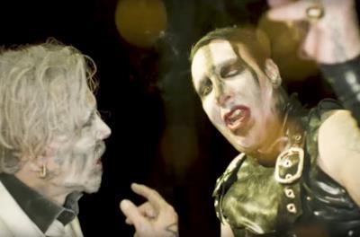 Manson e Depp nel video precedente