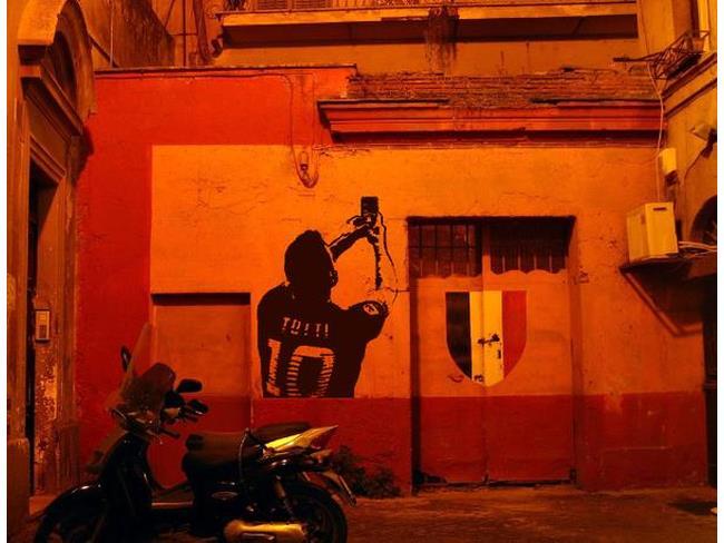 Murale del Totti Selfie