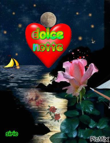 Una gif con auguri di dolce notte