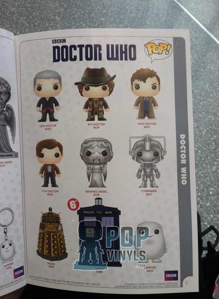 Concept art per la linea Funko ispirata a Doctor Who