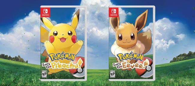 Le locandine di Pokemon Let's Go Pikachu e Pokemon Let's Go Eevee