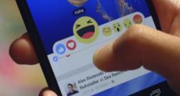 Screenshot del nuovo tasto Reactions introdotto da Facebook
