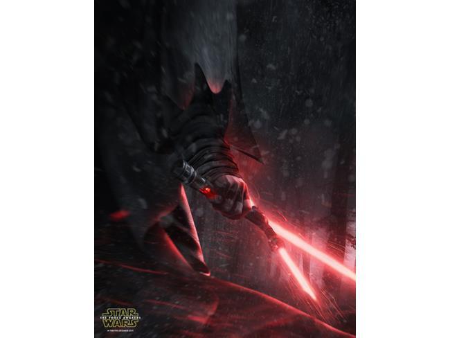 poster con la mano del nuovo cattivo di Star Wars 7