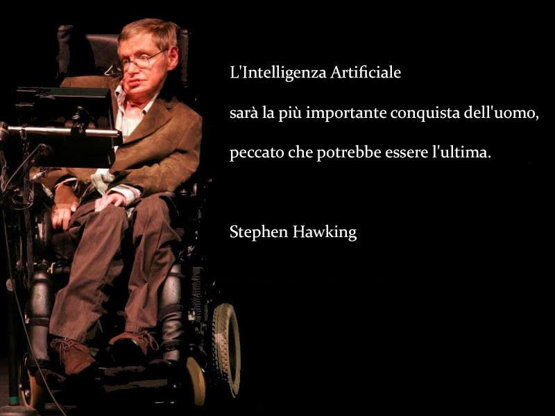 lo scienziato Stephen Hawking durante una conferenza - Le frasi più famose di Stephen Hawking da condividere