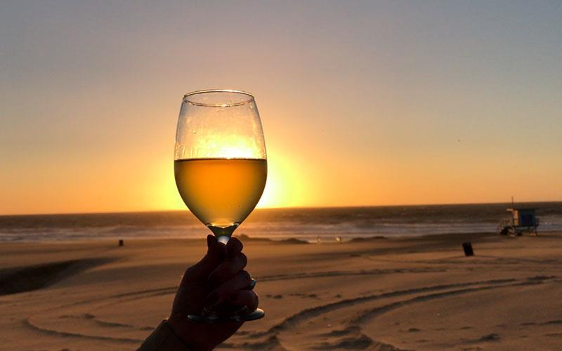 Un bicchiere del vino speciale