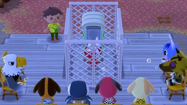 Un esempio di prigioni e luoghi di culto costruiti in Animal Crossing: Pocket Camp