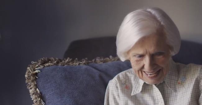 La signora Evelyn di 97 anni