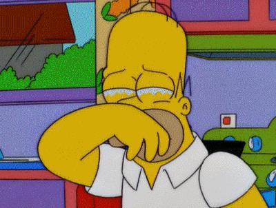 Homer Simpson piange - GIF di reazione ai commenti, le più divertenti da usare su Whatsapp e Facebook