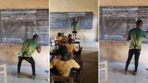 Le foto dell'insegnante eroe postate sul suo profilo Facebook