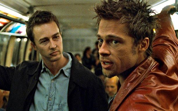Una scena del film Fight Club