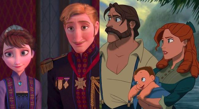 I genitori di Elsa e Anna in Frozen sono gli stessi di Tarzan.