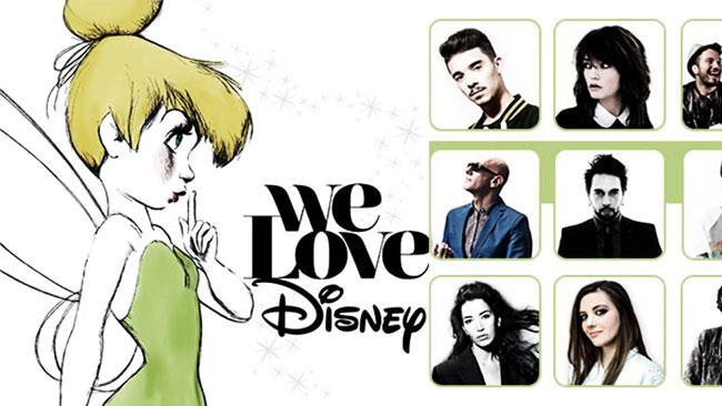 Gli artisti del doppio cd We Love Disney