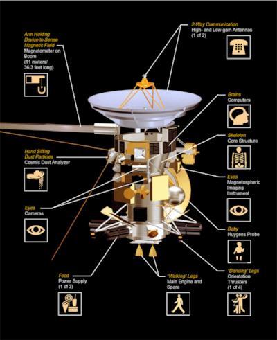 Le componenti della sonda schematizzate