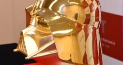 Una foto del casco presto in vendita