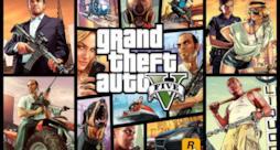 La copertina del videogame Grand Theft Auto 5