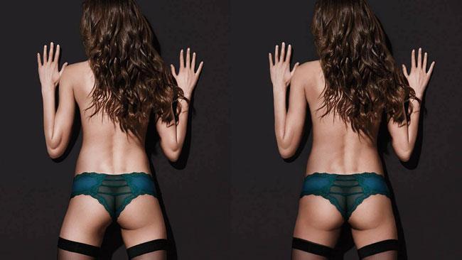 La modella con una natica sola di Victoria's Secret