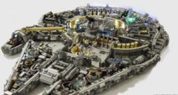 Il Millennium Falcon creato coi Lego