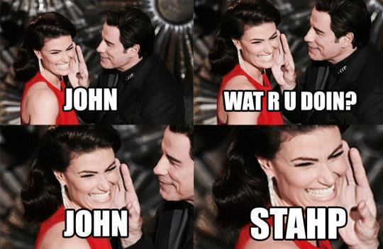 Meme di John Travolta e Idina Menzel