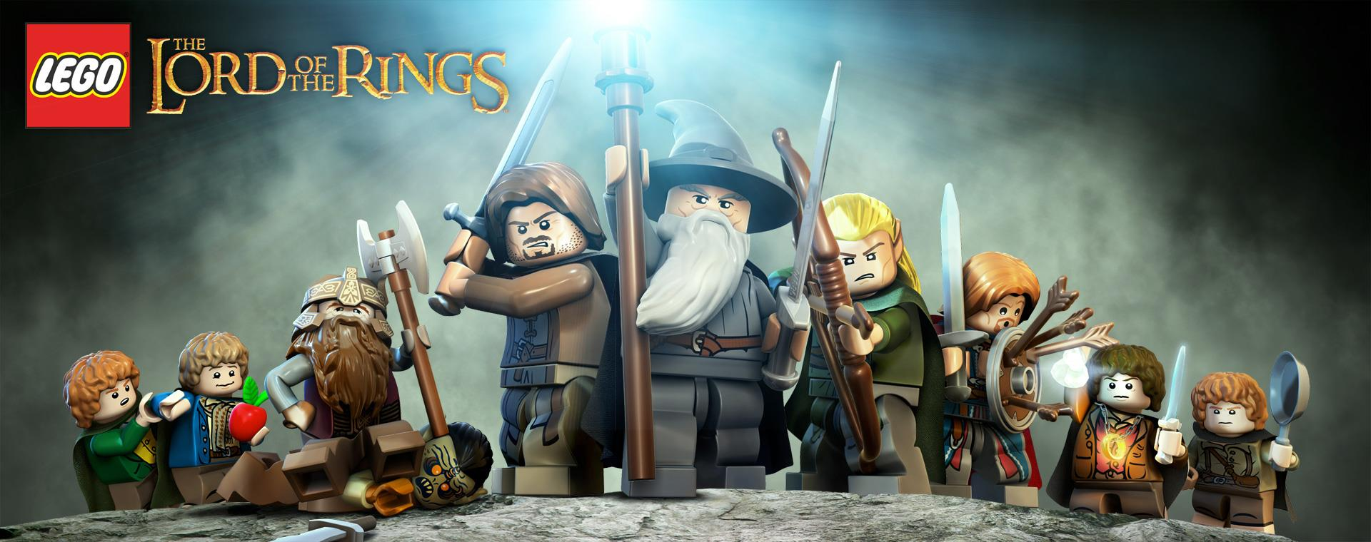 Poster del video gioco LEGO de Il Signore degli Anelli.