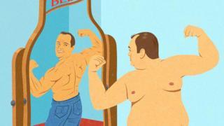Illustrazione satirica di John Holcroft sull'alcol