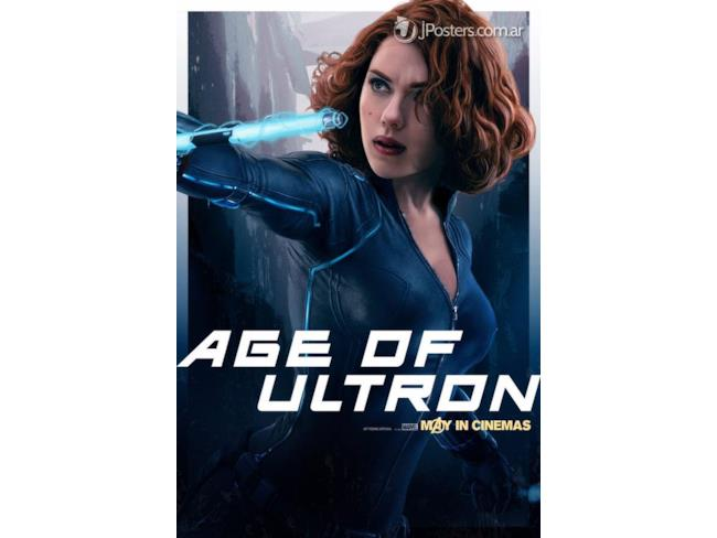 Poster promozionale di Black Widow in Age of Ultron
