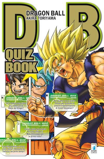 La copertina originale di Dragon Ball Quiz Book, in arrivo in Italia il 15 Novembre.