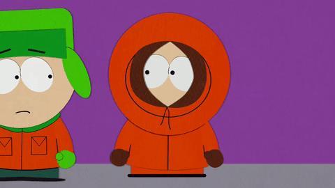 Kenny di South Park non ha la risposta - GIF di reazione ai commenti, le più divertenti da usare su Whatsapp e Facebook