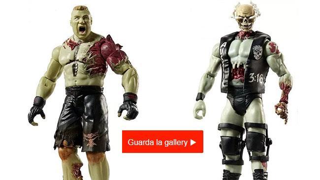 Due pupazzi della serie WWE Zombie