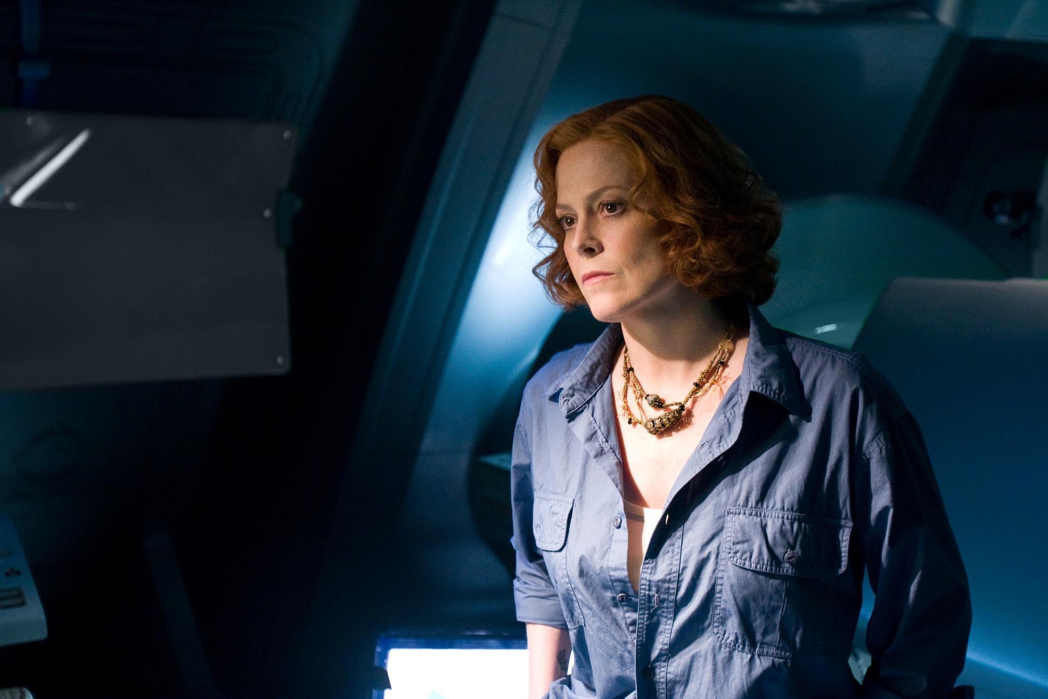 Sigourney Weaver in una scena di Avatar (2009)